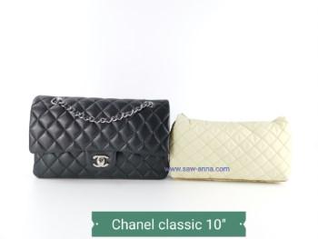 หมอนดันทรงพรีเมี่ยม Chanel Classic 10 นิ้ว สีครีม