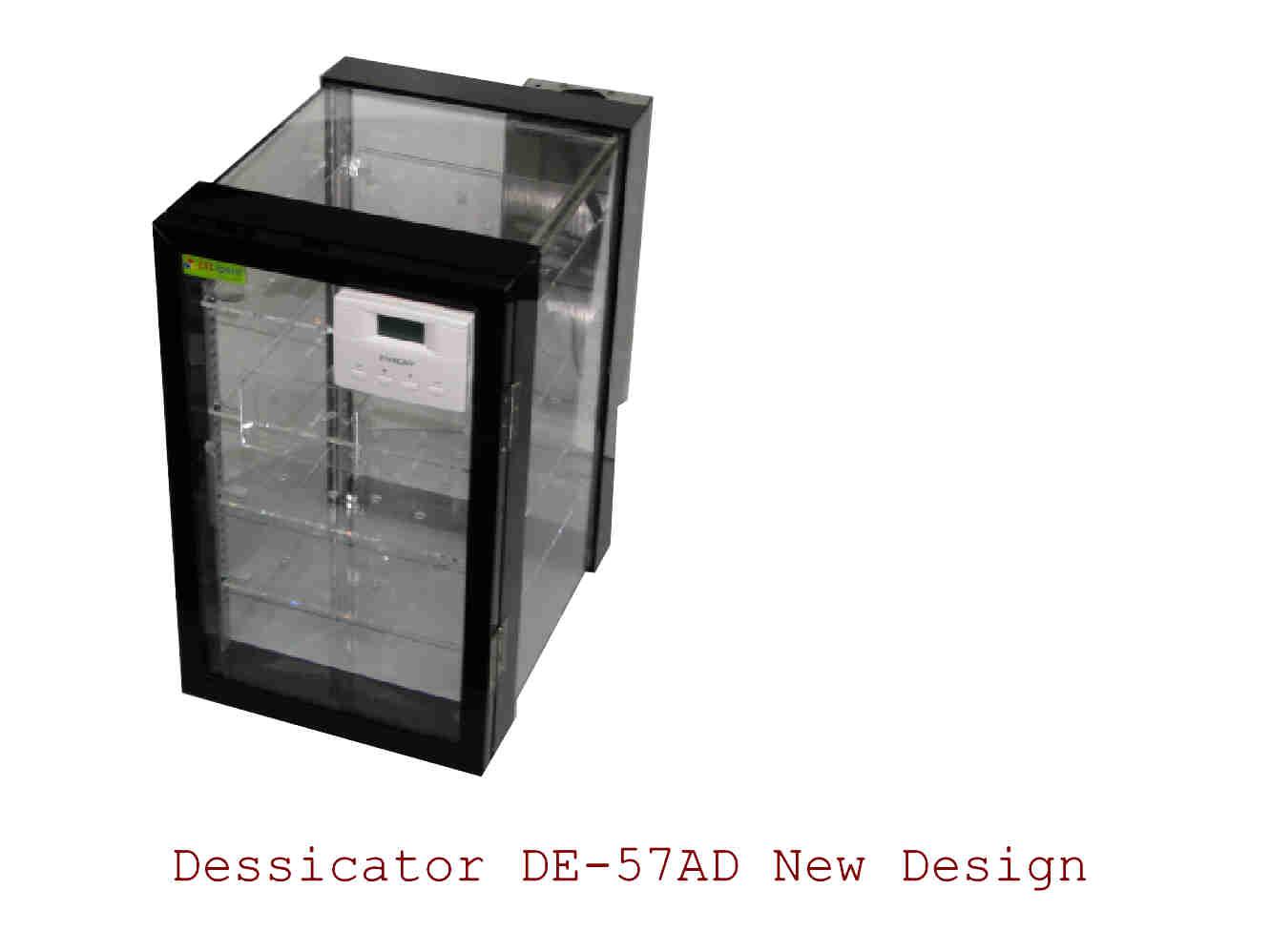 ตู้ควบคุมความชื้น  Desiccator cabinet รุ่น DE-57 AD ทำจากพลาสติก ขนาด57ลิตร ลดความชื้นได้ 40 RH 1