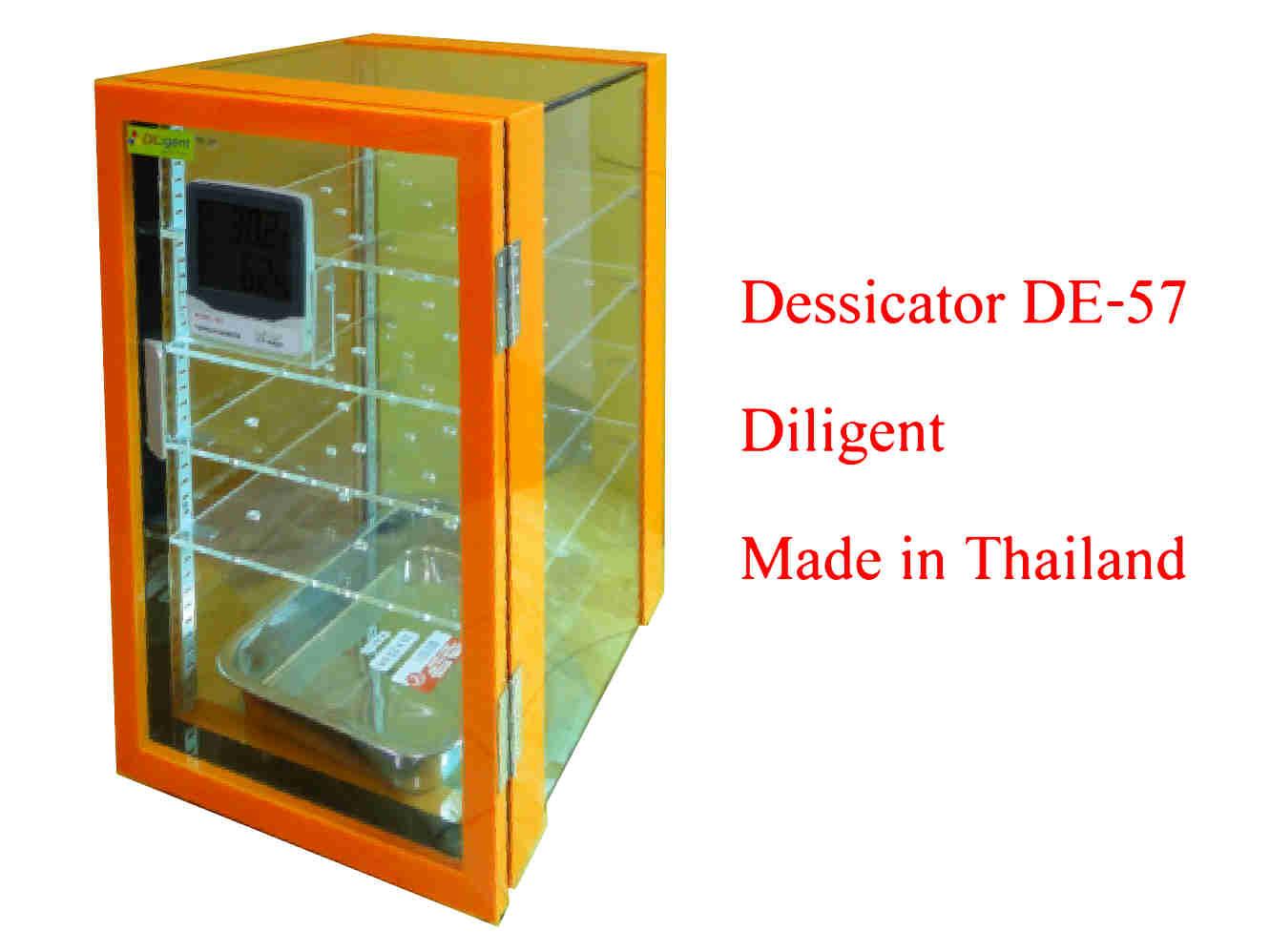 ตู้ดูดความชื้น Desiccator Cabinet แบบใช้ Silica gel Model DE-57 ทำจากพลาสติก 2