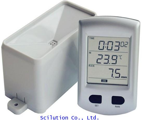 เครื่องวัดปริมาณน้ำฝน Wireless Rain Gauge with Temperature Rain Gauge MODEL: WH0203