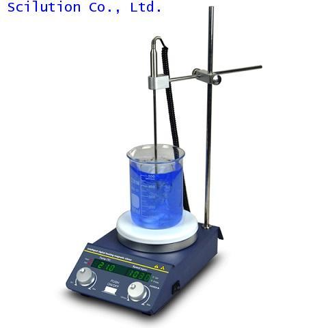 เครื่องกวนผสมสารและให้ความร้อน Digital Magnetic Stirrer Hot Plate (heating  stirring) รุ่น TP-350S