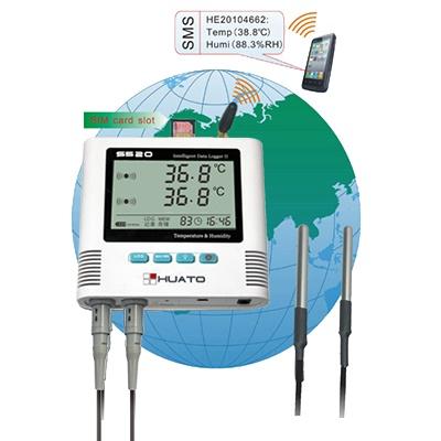 เครื่องวัดและบันทึกอุณหภูมิ ความชื้น Temperature and Humidity Data Logger Model S520-EX-GSM