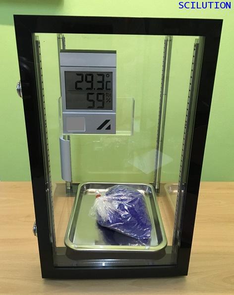 ตู้ดูดความชื้น Desiccator Cabinet แบบใช้ Silica gel Model DE-57 ทำจากพลาสติก