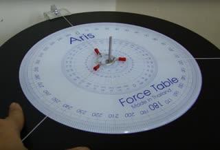 โต็ะแรง Force table  สมดุลย์ของแรง 1