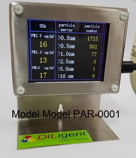 Personal Particle Counter เครื่องวัดฝุ่นละอองในอากาศ รุ่น PAR-0001