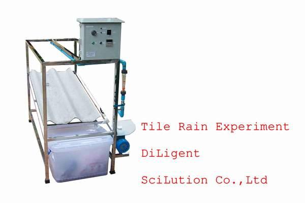 Rain Tile experiment ชุดทดสอบกระเบื้องมุงหลังคา แบบฝน