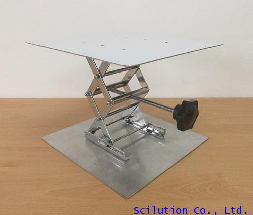 อุปกรณ์ปรับระดับความสูง เครื่องมือในห้องแลป LAB JACK 30x30 cm. Stainless Streel รุ่น CO14-SS