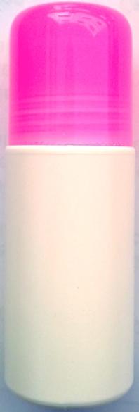ชุดโรลออนขนาด 60 มล.+ฝาสีชมพูใส+ลูกกลิ้ง (บรรจุ 1000 ชิ้น)
