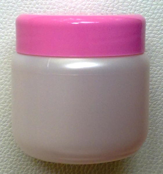 กระปุกครีมสีขาวมุก 200 มล.+ฝาสีชมพู (บรรจุ 100 ชิ้น)