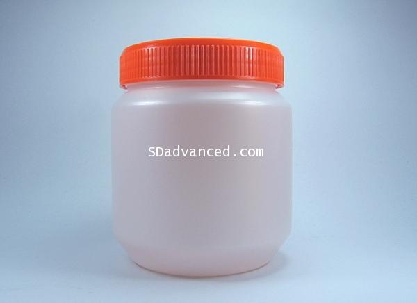 กระปุกครีมทาผิว 500 มล.+ฝาสีส้ม (บรรจุ 10 ชิ้น)