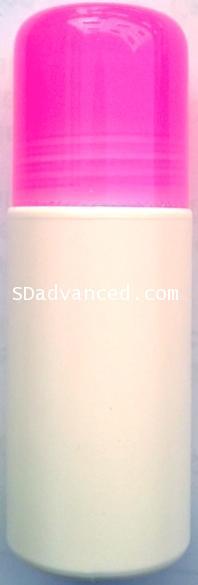 ชุดโรลออนขนาด 60 มล.+ฝาสีชมพูใส+ลูกกลิ้ง (บรรจุ 10 ชิ้น)