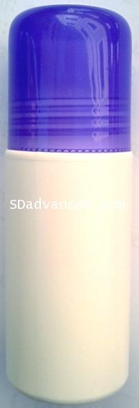 ชุดโรลออนขนาด 60 มล.+ฝาสีม่วงใส+ลูกกลิ้ง (บรรจุ 10 ชิ้น)