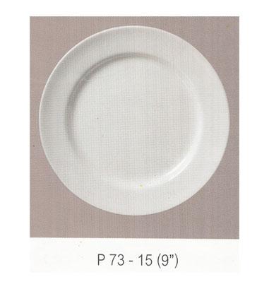 P73 จานกลม ทรงตื้นมีขอบ 9 นิ้ว Flowerware