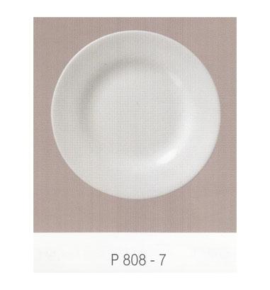 P808 จานกลมทรงตื้น 7 นิ้ว Flowerware