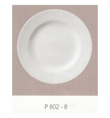 P802 จานกลมทรงตื้น 8 นิ้ว Flowerware