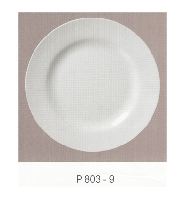 P803 จานกลมทรงตื้น 9 นิ้ว Flowerware