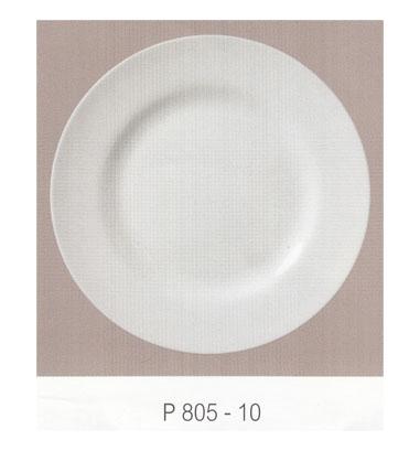 P805 จานกลมทรงตื้น 10 นิ้ว Flowerware