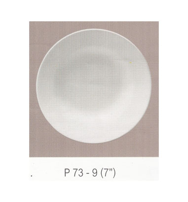 P73 จานกลมทรงลึก 7 นิ้ว Flowerware