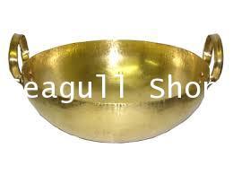 กระทะทองเหลือง เบอร์ 9  ขนาดเส้นผ่านศูนย์กลาง 18 ซม. (7 นิ้ว)