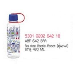 ABF 642 BRR ขวดน้ำดื่ม LockLock  ลายหุ่นยนต์ 480 Ml.