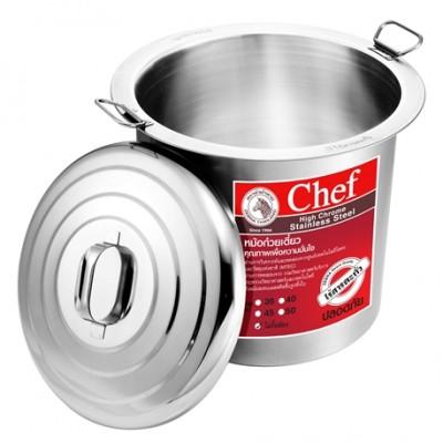 272451 หม้อก๋วยเตี๋ยว ตราหัวม้าลาย รุ่น Chef 45 ซม. 1 ช่องโล่ง (18 นิ้ว)
