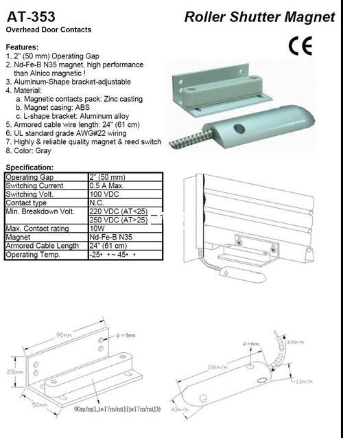 MAGNETIC CONTACTS Roller Shutter Magnet Overhead Door Contacts 3