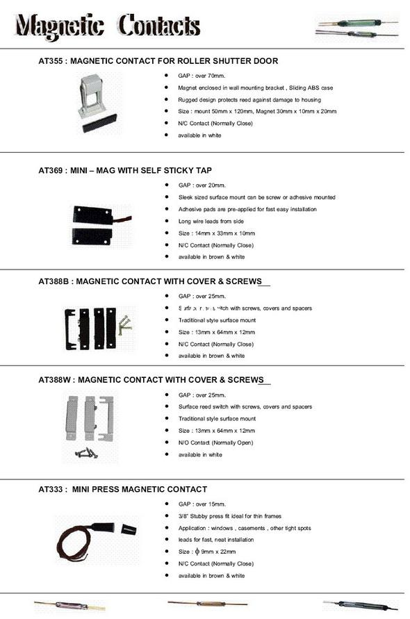 MAGNETIC CONTACTS Roller Shutter Magnet Overhead Door Contacts 1