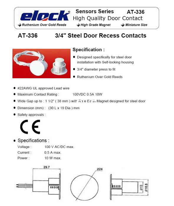 MAGNETIC CONTACTS Roller Shutter Magnet Overhead Door Contacts 2