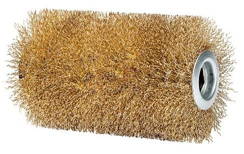 แปรงขัดลวดทองเหลือง PRO stone brush
