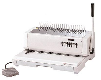 เครื่องเจาะกระดาษไฟฟ้าและเข้าเล่มมือโยก รุ่น TCC-210E