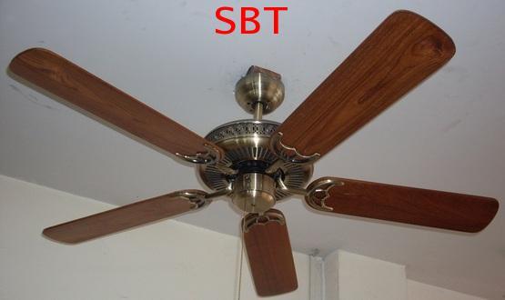 พัดลมเพดานใบพัดไม้สัก