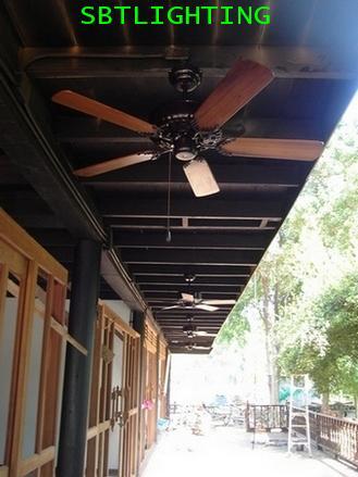 งานติดตั้งพัดลมเพดานใบพัดไม้สัก บ้านลูกค้า ทั่วประเทศ