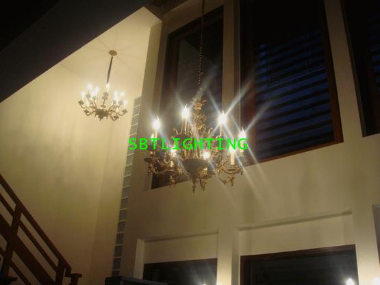การติดตั้งโคมไฟและพัดลมเพดานบ้านลูกค้า ปี 55