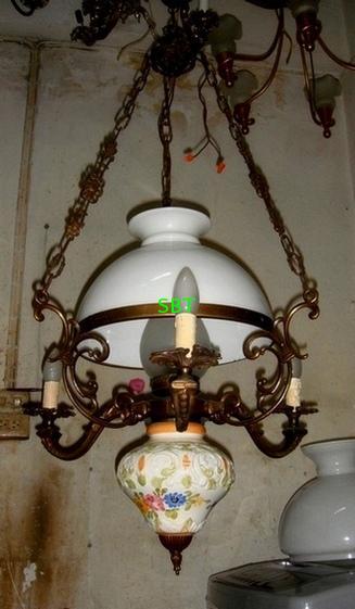 โคมไฟ ยุโรปงานทองเหลืองเก่า งานอิตาลี