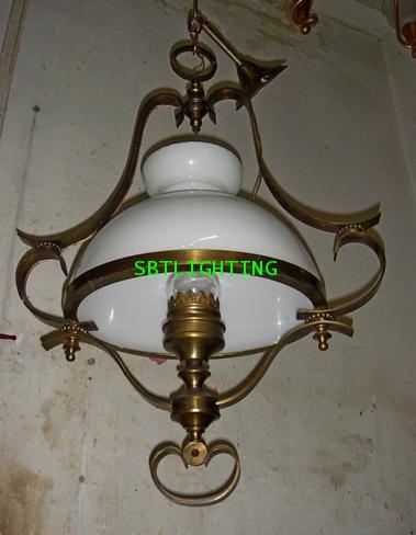 โคมไฟ ยุโรปงานทองเหลืองเก่า งานฮอลแลนด์