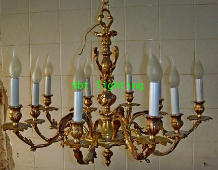 โคมไฟ ยุโรปงานเนื้อทองสำริด ของฝรั่งเศส