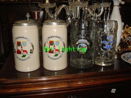 แก้วเบียร์ Porcelain เยอรมัน พร้อมฝาปิด