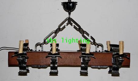 โคมไฟเชิงเทียน เหล็กร็อทไอร์ออน งานอิตาลี