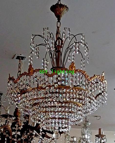โคมไฟทองเหลือง สำริด  งานอิตาลี