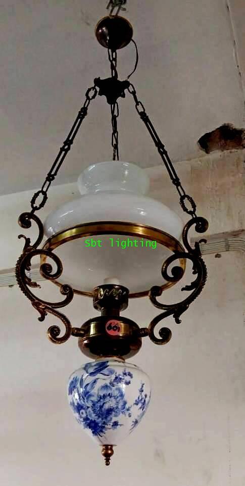 โคมไฟตะเกียง โป๊ะดัช โบราณ