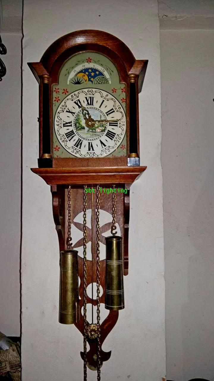 นาฬิกาแขวนผนังโบราณ ฮอลแลนด์ มูนเฟส