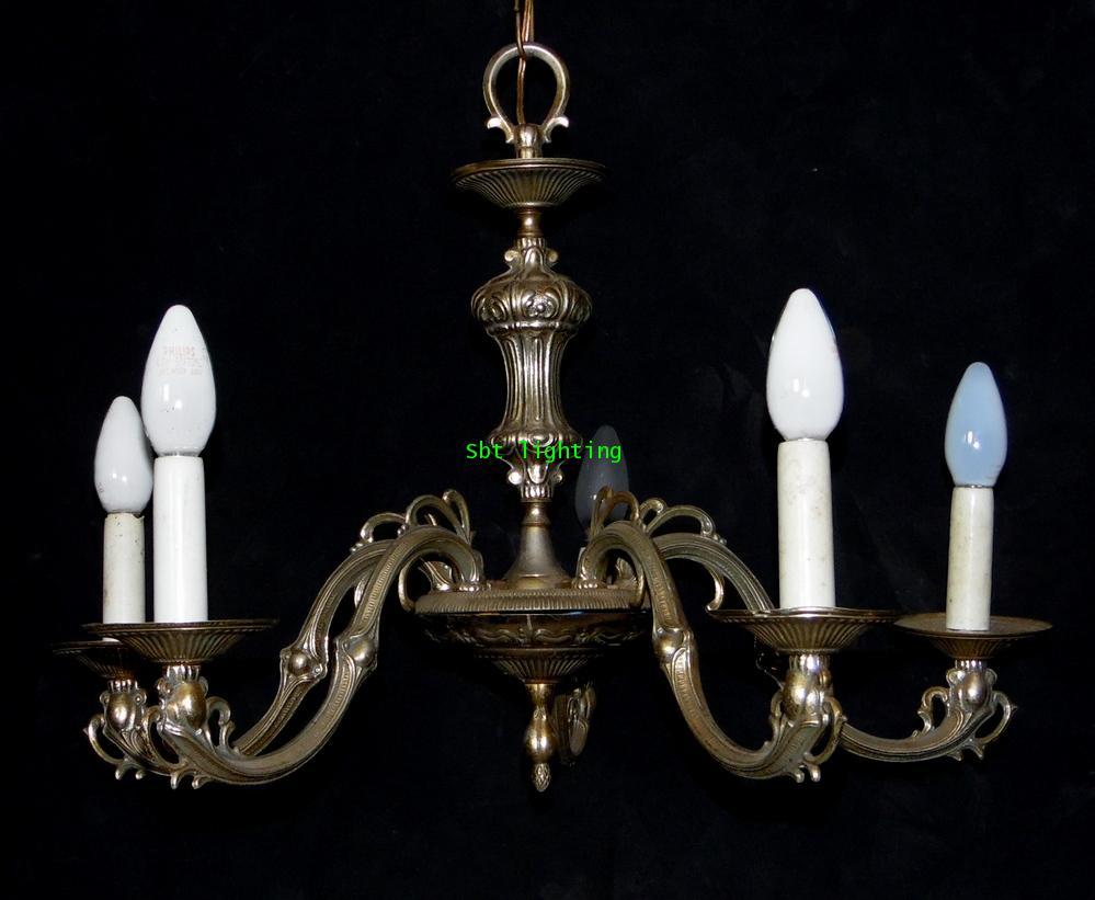 โคมไฟ ยุโรปงานทองเหลืองSilver Plate