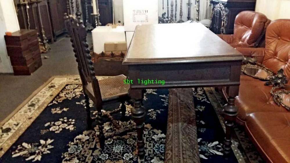 โต๊ะทำงานโบราณ ไม้โอ๊คแกะสลัก คศ.1880  งานฝรั่งเศส 3