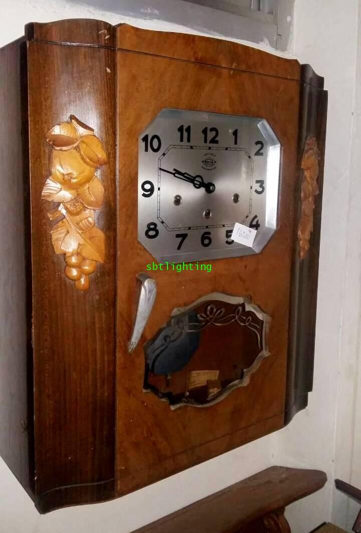 นาฬิกาแขวนผนังสามลาน โบราณ งานฝรั่งเศส