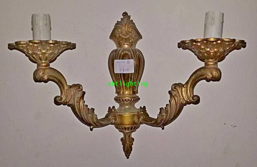 โคมไฟผนังทองเหลืองทองสำริด  งานอิตาลี
