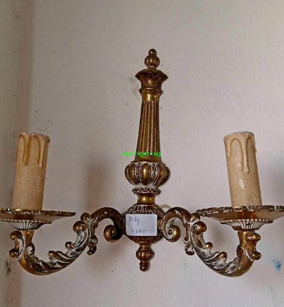 โคมไฟผนังทองเหลือง กิ่งคู่