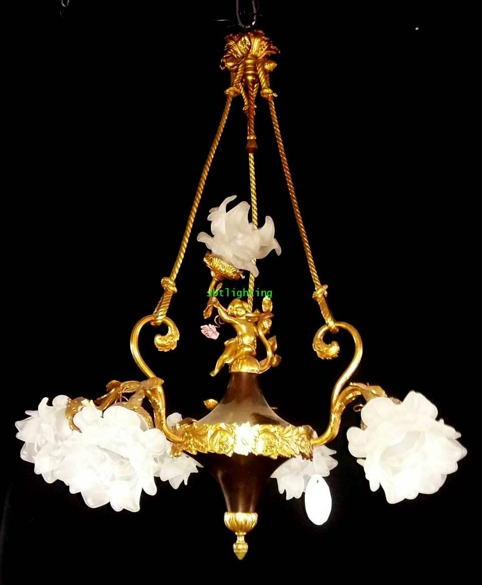 โคมไฟทองเหลือง ทองสำริด งานอิตาลี