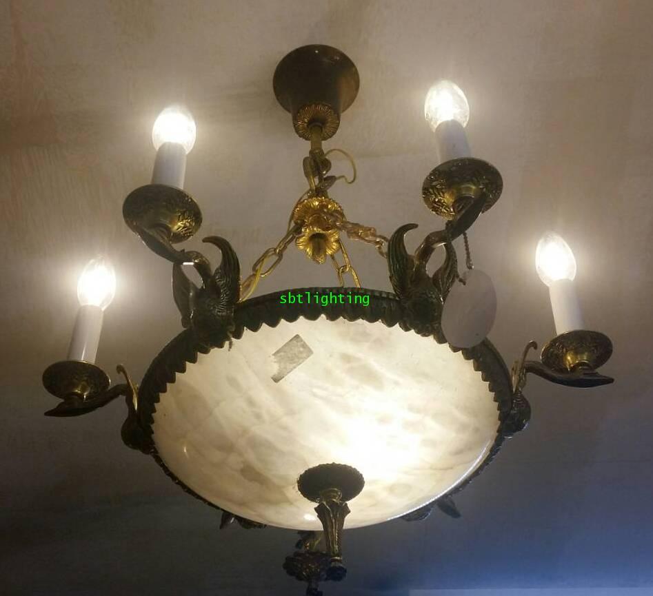 โคมไฟ โบราณ ผลิตจากหินอะลาบาสเตอร์ อิตาลี