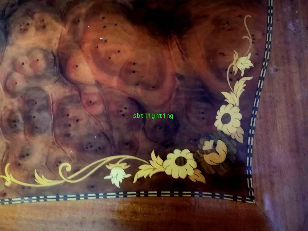 โต๊ะกลาง งานไม้แท้ วีเนียร์ลาย5 สี  งานฝรั่งเศส 4