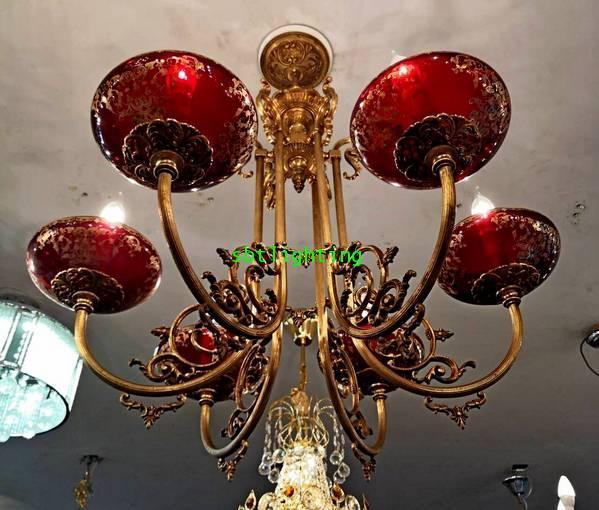 โคมไฟทองเหลืองทองสำริด งานอิตาลี